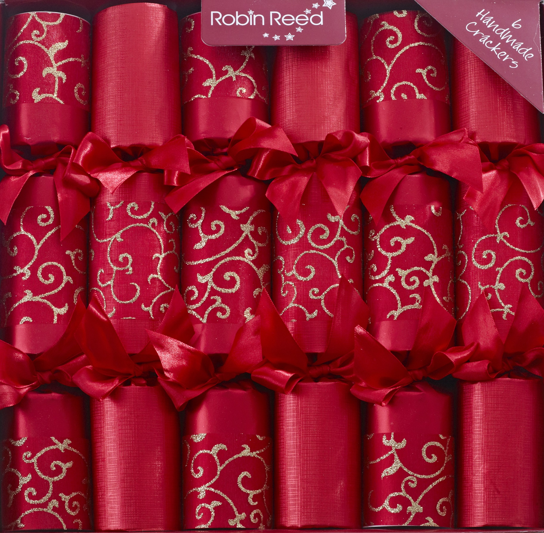 designer christmas crackers x6 emperor