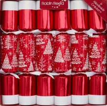 Red Snow Trees Christmas Crackers 220x220