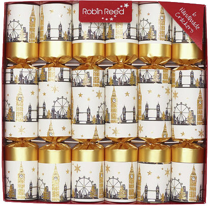 Picture of Christmas Crackers - 6 Classic Christmas Crackers - London Bridge