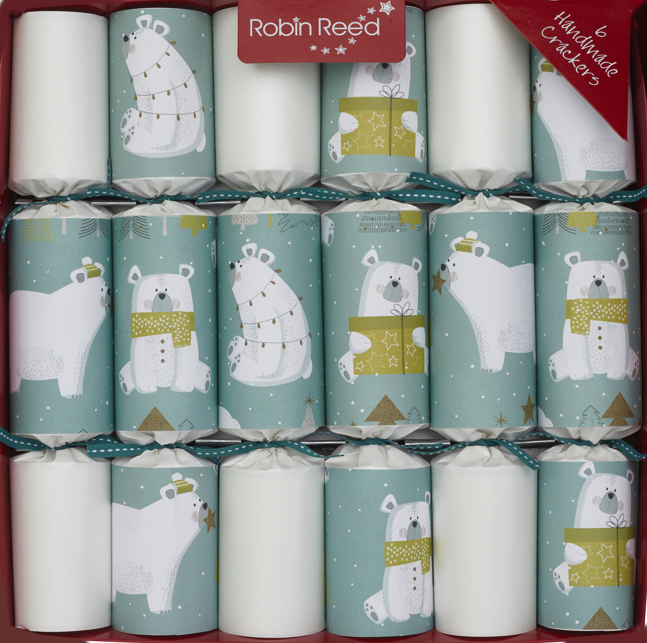 Picture of Christmas Crackers - 6 Children's Christmas Crackers - Polar Bears