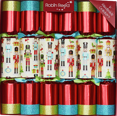 Picture of Christmas Crackers - 6 Designer Christmas Crackers - Red Nutcracker