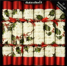Picture of Christmas Crackers - 12 Classic Christmas Crackers - Bows & Berries